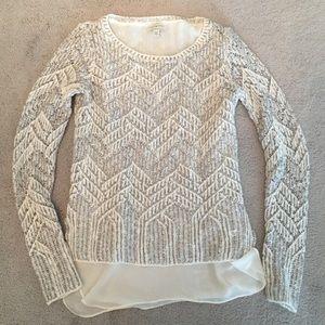NWOT Lucky Brand Twofer Shimmer Sweater